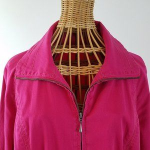 Chicos Womens Casual Jacket Zip Up Pink Si…